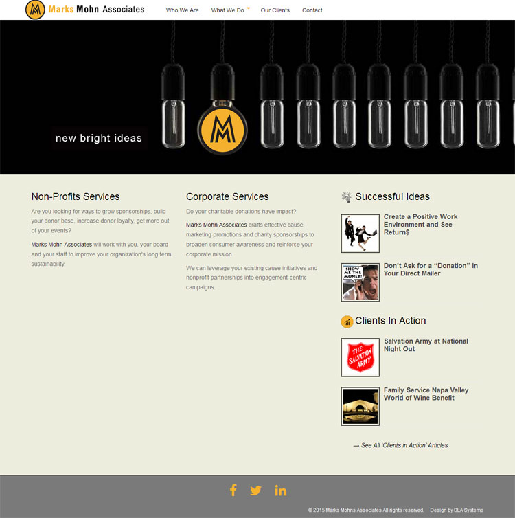 Marks Mohn Associates website by SLA Systems