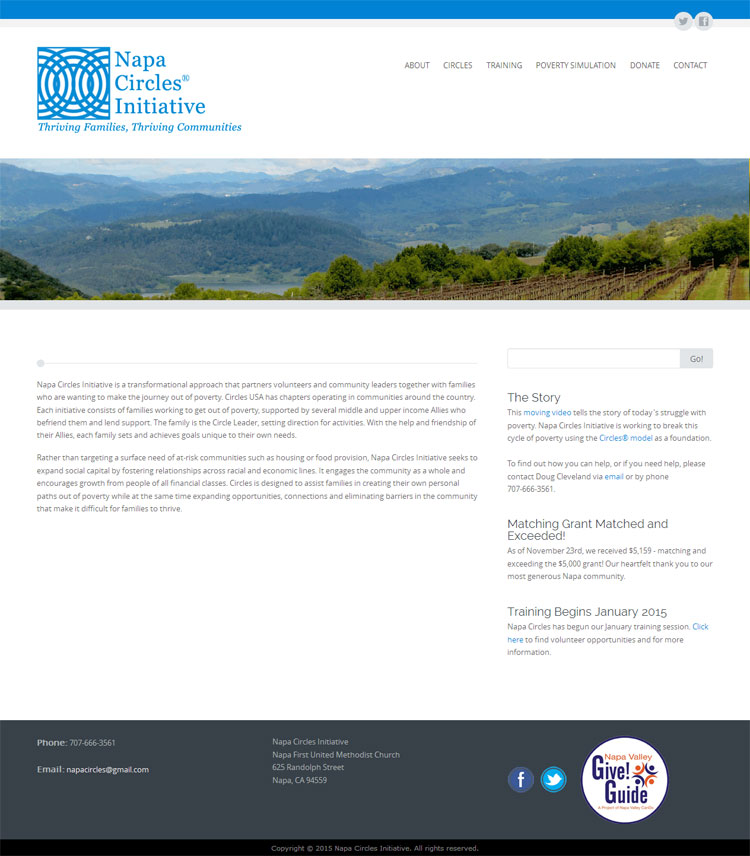Napa Circles Initiative website by SLA Systems