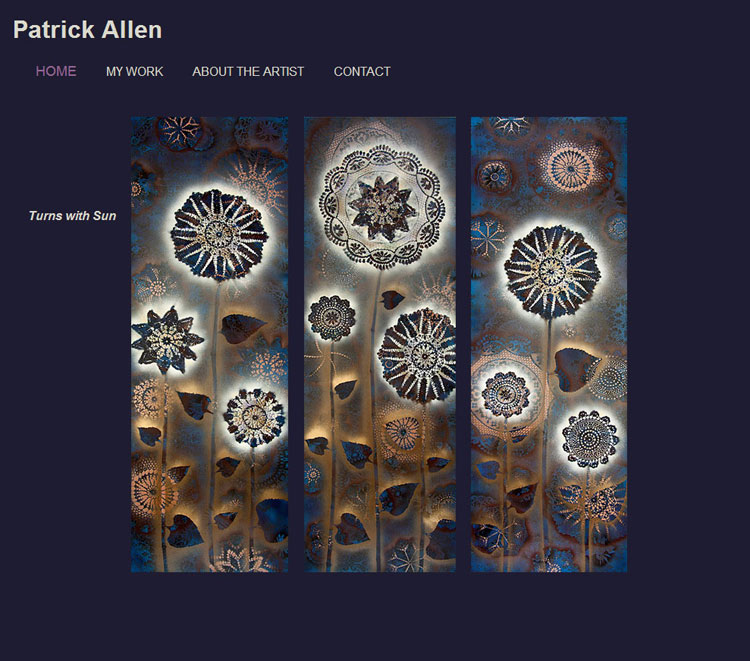 Patrick Allen Art website by SLA Systems