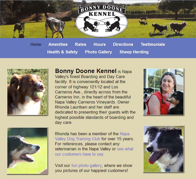 Bonny Doone Kennel website by SLA Systems