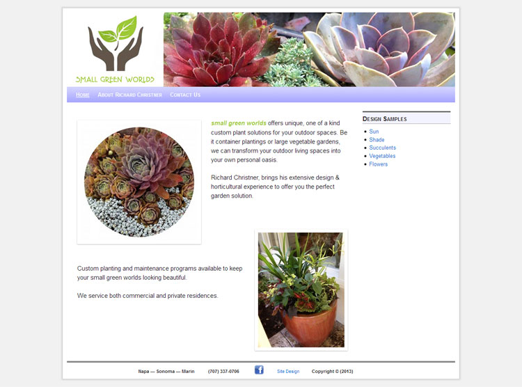 Small Green Worlds website by SLA Systems